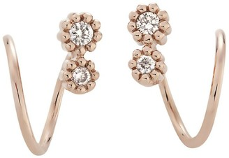 H.Stern Rose Gold And Diamond Mycollection Earrings