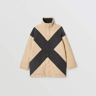 Burberry Panelled Down-filled Cotton Jacket