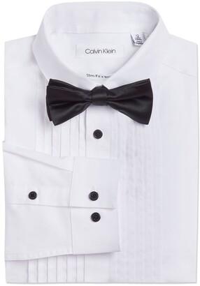 Calvin Klein Boxed Tuxedo Shirt w/ Bowtie