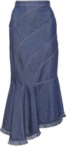 Andrew Gn Asymmetrical Denim Skirt