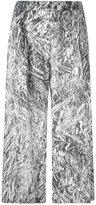 McQ by Alexander McQueen Silver Foil print culottes