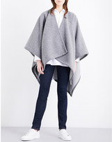 Johnstons Reverible wool-cashmere cape