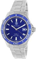 Tag Heuer Men's Aquaracer WAK2111.BA0830 Silver Stainless-Steel Swiss Quartz Watch with Blue Dial
