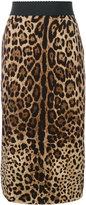 Dolce & Gabbana leopard print pencil skirt - women - Silk/Polyester/Spandex/Elastane - 40