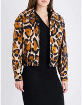 Anglomania Ladies Leopard Goldfinch Leopard-Print Stretch-Cotton Jacket