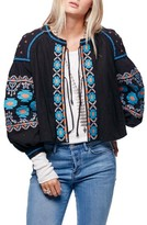 Free People Women's Embroidered Linen & Cotton Jacket