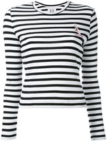Zoe Karssen striped slim-fit jumper - women - Cotton/Viscose - S