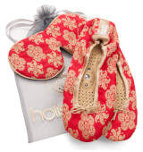 Holistic Silk Eye Mask Slipper Gift Set - Scarlet (Various Sizes) - S