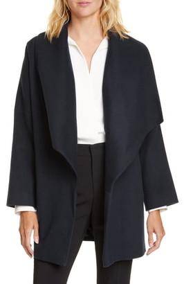 Helene Berman Waterfall Collar Short Wool Blend Coat