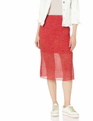 The Fifth Label Women's Assemblage Illusion Crinkle Slip MIDI Skirt