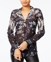 GUESS Clouis Sheer Embellished Shirt