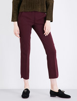 Sportmax Split-hem straight mid-rise crepe trousers