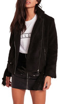 Missguided Fleece Moto Jacket