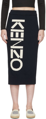 Kenzo Navy Logo Sport Tube Skirt