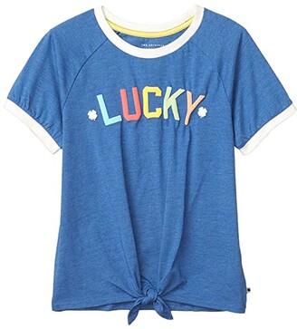 Lucky Brand Kids Jackson Tee (Big Kids) (Galaxy Blue) Girl's Clothing