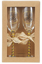 Mud Pie Wedding Collection I'm His & Hers Champagne Flute Set