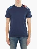 Maison Margiela Blue Panelled Cotton T-Shirt