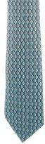 Hermes Silk Fish Print Tie