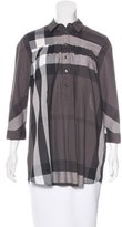 Burberry Exploded Check Three-Quarter Sleeve Tunic