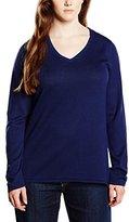 Sheego Women's Long Sleeve Jumper - Blue -