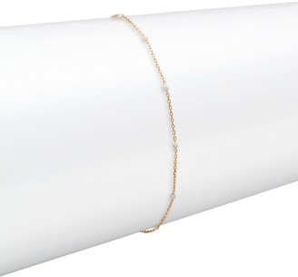 Saks Fifth Avenue Made In Italy 14K Yellow Gold Enamel Anklet