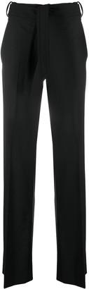 Neil Barrett Belted-Waist Flared Trousers