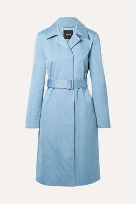 Theory Cotton-twill Coat - Light blue