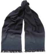 Bottega Veneta Dégradé Cashmere And Wool-blend Scarf - Navy