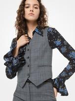 Michael Kors Glen Plaid Wool Vest