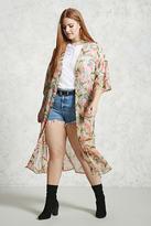 Forever 21 Plus Size Foliage Print Kimono