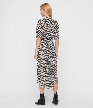 AllSaints Xena Long Zephyr Dress