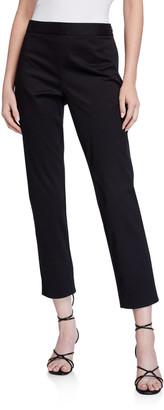 Natori Slim Cotton Twill Ankle Pants
