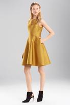 Josie Natori Pebble Jacquard Fit And Flare Dress