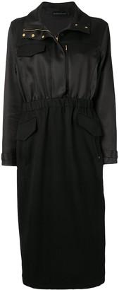 Brandon Maxwell Trench-Style Midi Dress
