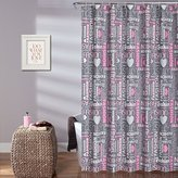 """Lush Decor Fashion Shower Curtain, 72"""" x 72"""", Pink"""