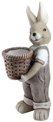 Northlight Neutral Tones Easter Boy Rabbit Outdoor Garden Planter