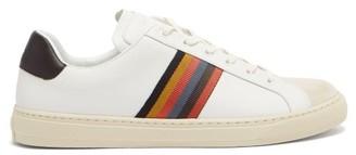 Paul Smith Hansen Artist-stripe Leather Trainers - White