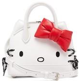 Balenciaga Hello Kitty Xxs Leather Handbag - Womens - White Multi