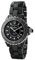Peugeot Women's Swiss Ceramic Black Dial SportBezel Watch