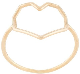 ALIITA 9kt yellow gold Corazon ring