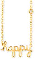 SHY by SE Happy Pendant Diamond Bezel Necklace
