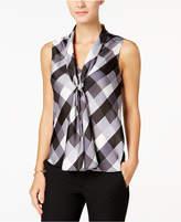 Nine West Sleeveless Tie-Front Blouse