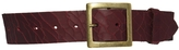 Black & Brown Cracked Leather Waist Belt With Antique Buckle