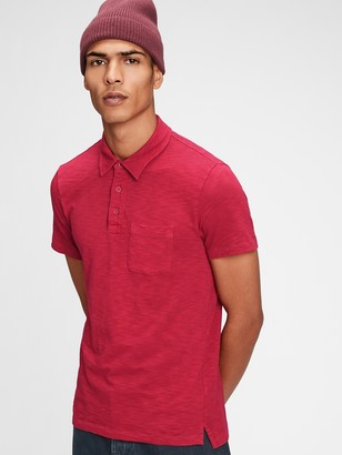 Gap Vintage Slub Polo Shirt Shirt