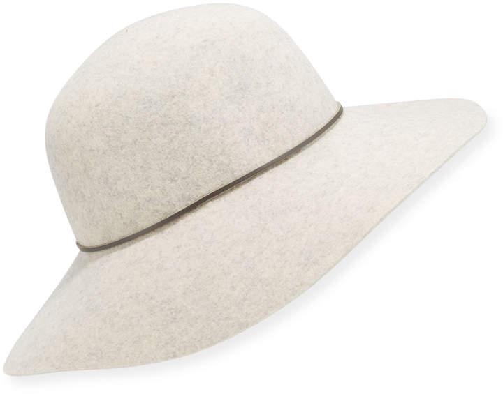 Neiman Marcus Large Brim Rounded Floppy Hat
