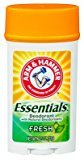 Arm & Hammer Essentials Fresh Deodorant 2.5Oz, Pack of 18
