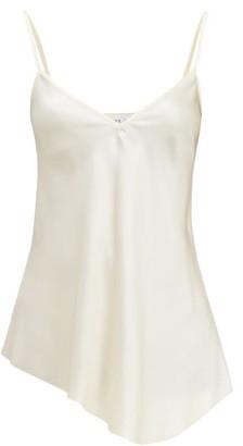Raey Dip-hem Silk-satin Cami Top - Womens - Cream