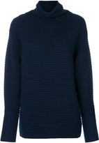 Victoria Beckham ribbed turtleneck sweater - women - Wool - M