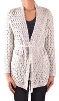 Sun 68 Women's Grey Wool Cardigan.