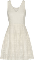Joie Pruitt crocheted cotton mini dress